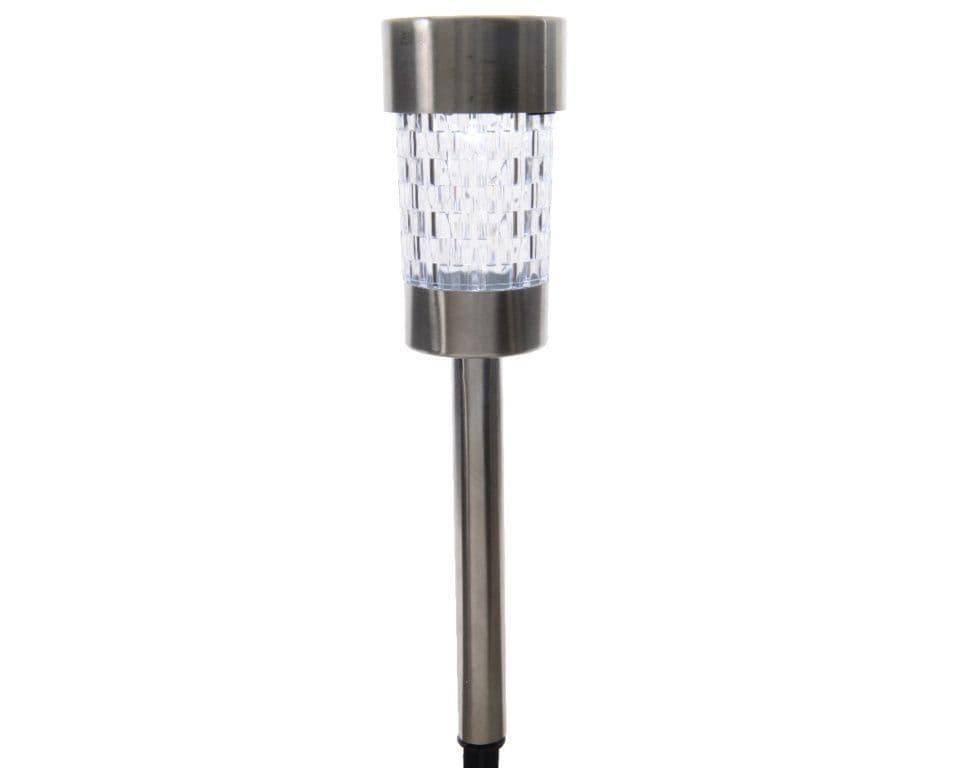Lumineo LED Solar Stainless Steel Garden Light - Cool White